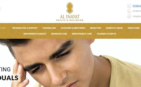 Inayat web screenshot