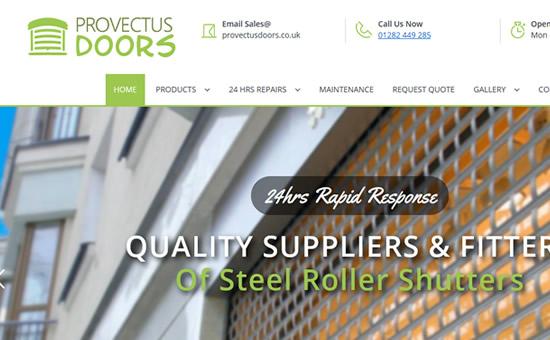 Provectus Doors web screenshot